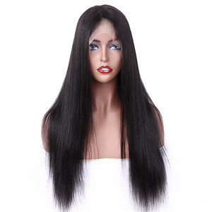2019 RLN New Fashion  Brazilian real 100% human remy/virgin hair swiss lace front Straight Wigs