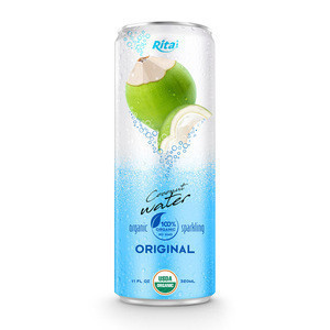 320ml Canned High Quality 100% Organic Sparkling Coconut Water