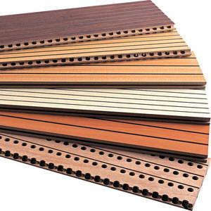 Acoustic wood board panel wall decor