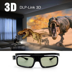 Active DLP Projector 3D Glasses for Movie TV DVD LCD Video Game Theatre