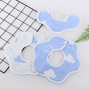 Baby bib cotton children saliva towel cute printing baby products wholesale six-layer gauze boy girl baby bib