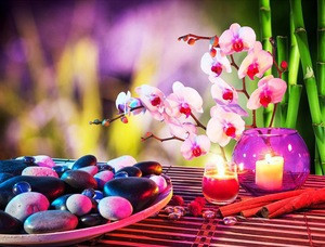 CE Certificated watercolor flower painting for living room with led light for home decor factory price wholesale
