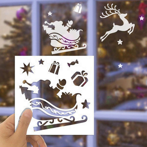 Christmas Snowflake stencil Product name and 0.18-0.3mm Thickness stencil