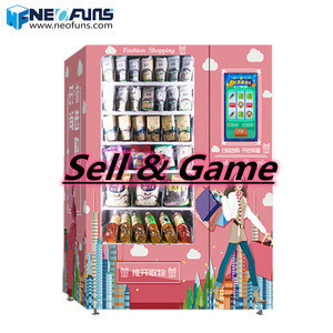 Coin operated games coffee vending machine water condom colorful yellow machine vending game machine