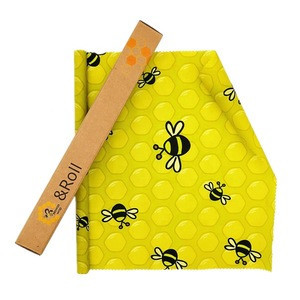 Custom biodegradable reusable wax paper wrapping in a roll