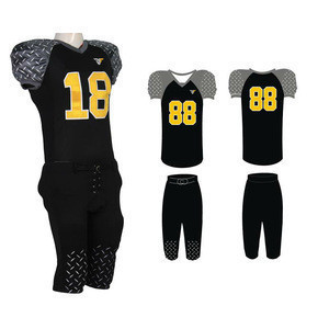 Custom made professional printing fitness american football jerseys uniforms