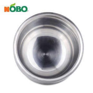 Durable Portable Heat Insulation Lather Shave Soap Cup Mug Double Layer Stainless Steel Shaving Bowl For Men