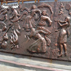 Factory price High Quality metal wrought copper Wall Relief Sculpture