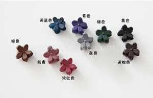Frosted flowers plastic small clip Childrens hair accessories baby grasp clip girls hair claw wholesale