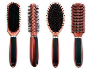 HAIR BRUSHES 36PC W/METAL RACK, #23236