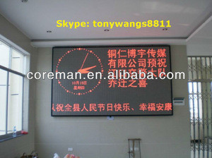 Illuminated led message writing board/ indoor red color led text billboard/ message single color led sign p6 p7.62 p4 p10