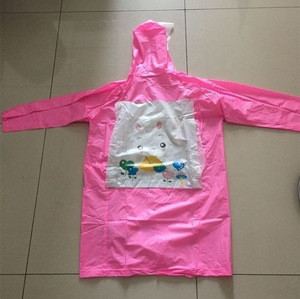 imprint logo cartoon children rain coat