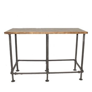 Industrial metal pipe frame high bar table