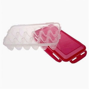 kitchen three-piece storage container set for eggs bread and bacon