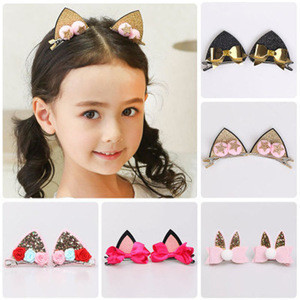 Korean design  Children Hair Accessories Fashion Princess Crown  Hairpins Headwear Hair clip for Kids 1pair