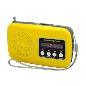 L-839FM audio broadcast  portable card  speaker MP3 player Radio for the Blind