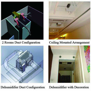 Made in Taiwan Ceiling Mounted Dehumidifier/industrial Dehumidifier 62L/day 60HZ
