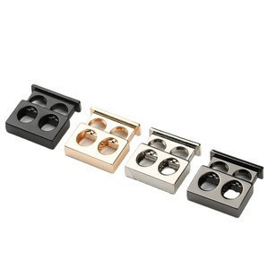 Metal alloy stoppers toggle cord locks Drawstring lock two holes ZINC METAL LACE CORD END STOPPER LOCK