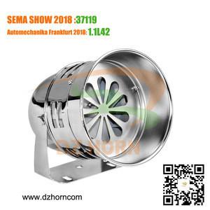 Motorcycle FA siren alarm horn 12V 24V DC chrome gray