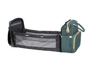 New Folding Travel Crib Newborn Baby Organic Sleeping Bag Portable Bed Diaper Bag Multifunctional Large Traveling Mom Bag Backpa