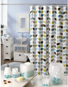 New Style Polyester Shower Curtain Polyresin Bathroom set bathroom accessories products