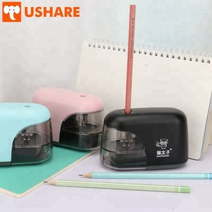 Pencil sharpener factory supply new big capacity adult office use AA battery operated ABS material electronic pencil sharpener