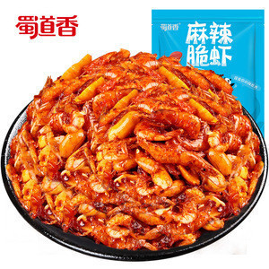 ShuDaoXiang Seafood Snack 100g Per Bag 76 Bags Per Carton Spicy Snacks Dried Shrimp Snack