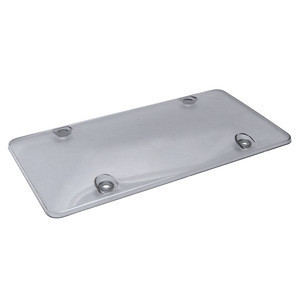 Smoke License Plate Tag Frame Cover Shield Car Truck