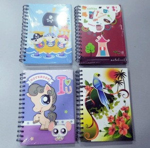 Spiral bound binder note book customized design printing cover writing books meeting use for wholesale 80 pages