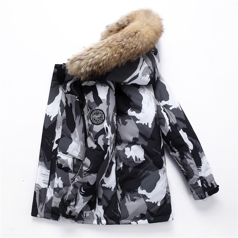 The waterproof canada outdoor winter coat thick medium foldable down brand jacket for men and women