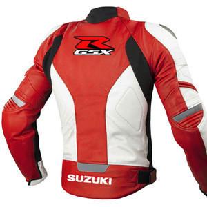 Wholesale OEM Custom Racing Motorbike Motorcycle MotoGp Genuine Leather Jacket Professional Biker Racer Sportbike Jacket FZ-2895