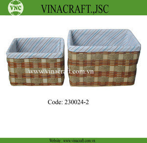 Wholesales wicker basket with linner