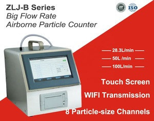 ZLJ-B330 New 8 Channels 28.3L/min  PM0.3 PM2.0 PM10 Detection Touch Screen Portable Laser Air Particle Counter