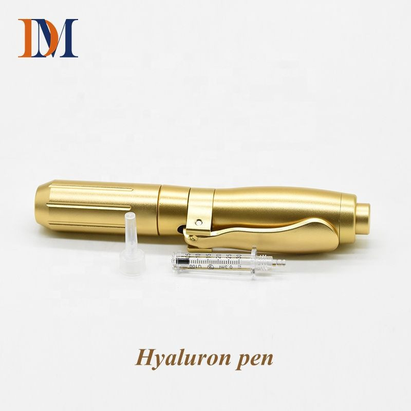 Hyaluronic pen for hyaluronic acid dermal filler OR VC injection with high pressure needle-free meso gun mesotherapy