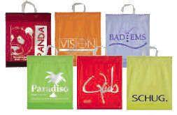 PE PP PVC SHOPPING BAGS, HANDLE BAGS, HANDY CARRIER BAGS, SHOPPER, SOFT LOOP FLEXI LOOP, DIE CUT