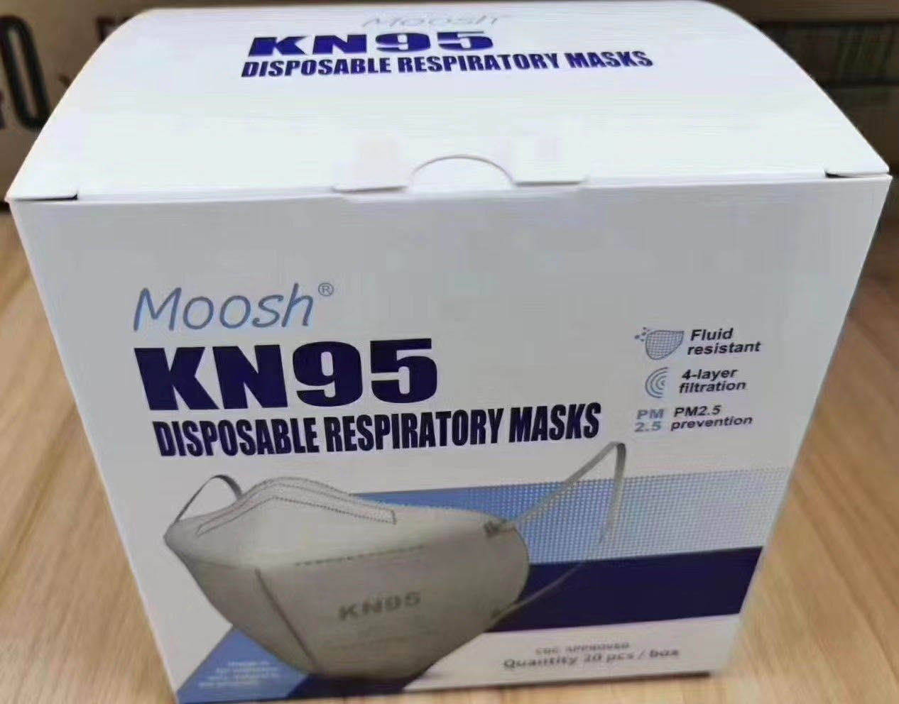 Moosh KN95 Mask , USA CDC supplier