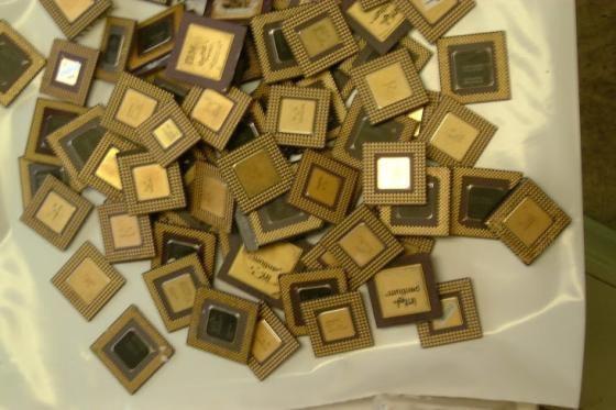 Ceramic CPU Processor Gold Scrap AMD 486 CPU and 586 CPU SCRAPS
