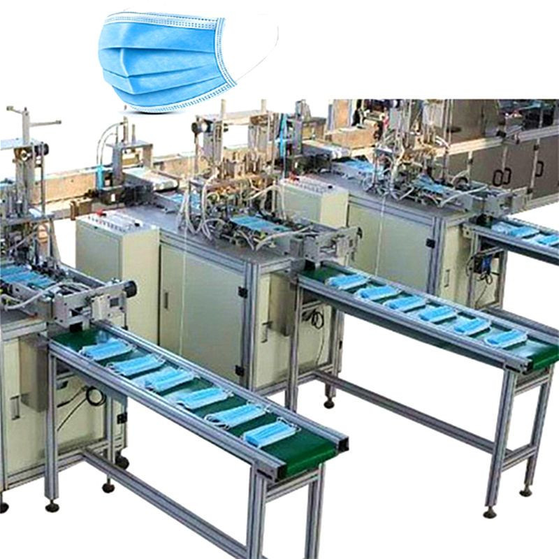 Full automatic disposable mask making machine 3 ply mask forming machine