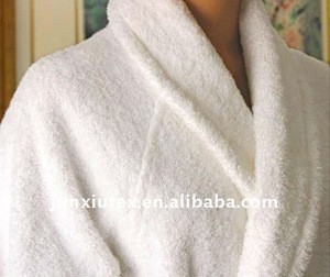 100% cotton wholesale hotel terry bathrobe
