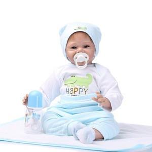 2019 Children best toy Super Lifelike 55cm silicon vinyl realistic cute Babies boy toy reborn doll