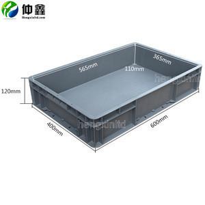 400*600*120mm Plastic foldable turnover crate custom plastic folding crate