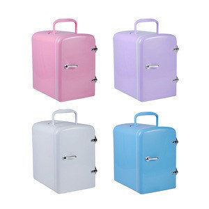 4L Mini Car Fridge Cooler and Warmer Portable Compact Personal Fridge Semiconductor Electronic Food Makeup Fridge