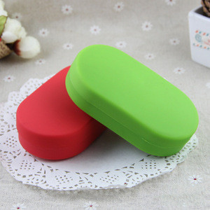 Amazon hot sales 6 Compartment Portable Silicone Pill Box COMBO/Silicone travel medicine  pill case