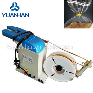 Automatic Satin, nylon, grosgrain, organza, Material belt gift Packaging elegant jar bow with wire twist tie machine