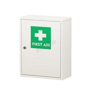 Bathroom wall mounted medicine cabinet metal first aid cabinet for home use