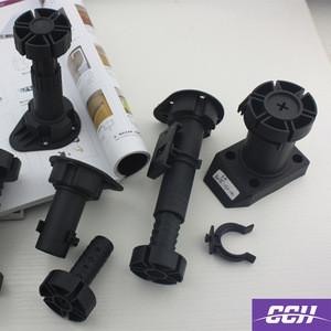 Cabinet legs levelers adjustable kitchen cabinet plastic skirting adjustable height legs pvc