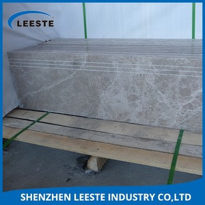 Cheap grey polished marble stair bullnose granite Floor tile