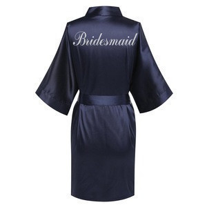 Chinese bridal robe hotel Bathrobes for ladies embroidered logo WR1-0014