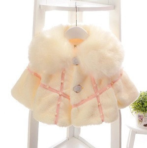 D95756t new arrival beaded lapel cappa warm baby girl jacket
