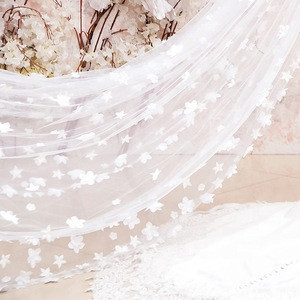 Epistle 3d flowers lace wedding veil